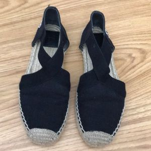 Tory Burch Black Canvas Catalina Espadrilles